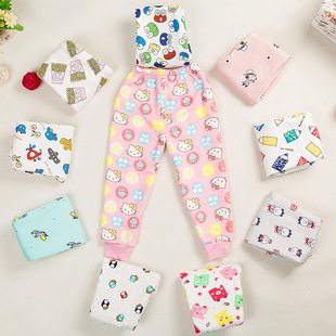 Factory direct children's fall and winter plus Trousers warm pants baby napping leggings children not inverted cashm