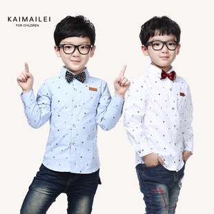 2016 spring new children's clothing Korean children long-sleeved shirt Children shirts children cartoon fashion casu