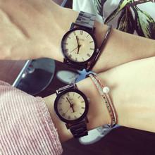韩版时尚潮流情侣个性手表一对钢带石英表非机?#30340;信?#29983;防水时装表