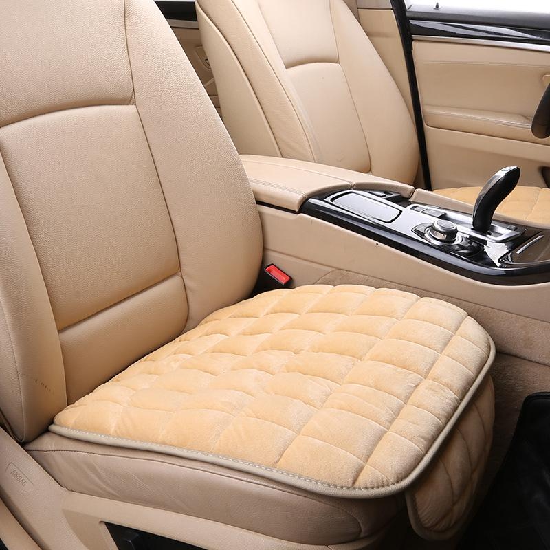 汽车坐垫秋冬新款毛绒无靠背三件套免绑防滑后排长张毛垫j1256