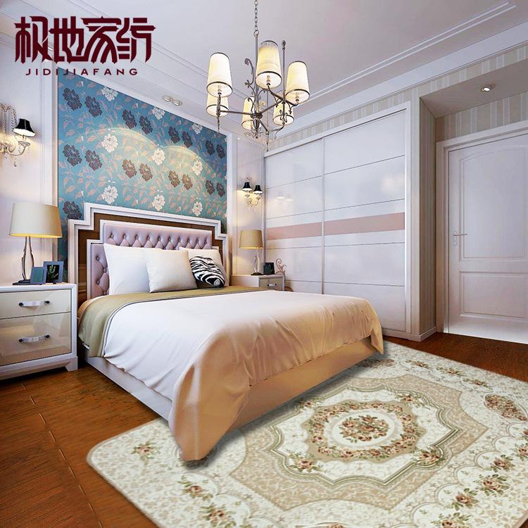 欧式田园简约现代地毯卧室满铺地毯客厅茶几地毯沙发床边毯布艺毯