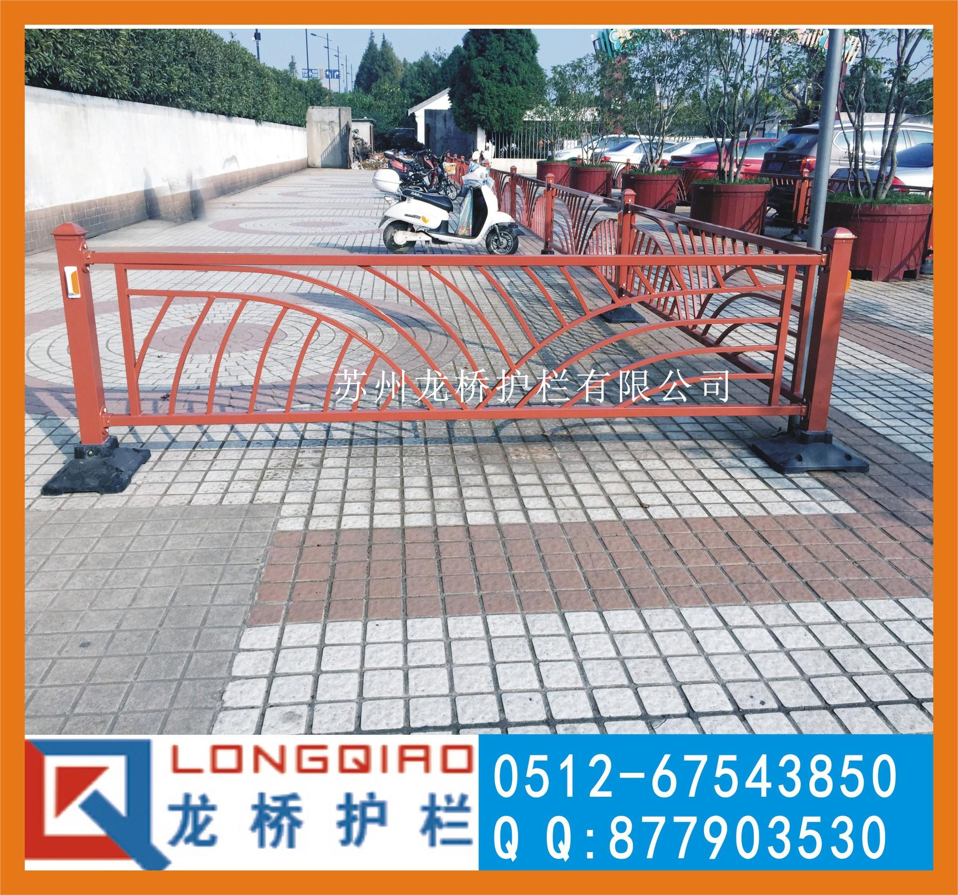 西安防古道路交通护栏 古铜色城市道路隔离护栏 花式交通栏杆图片