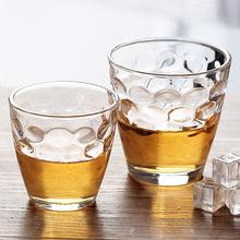 批发新款耐热透明玻璃杯水杯 透明珠点玻璃杯 家庭餐厅创意钢化杯