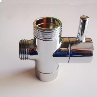 厂家直销全铜分水器 快开分水阀 三通花洒配件淋浴转换阀一进二出图片