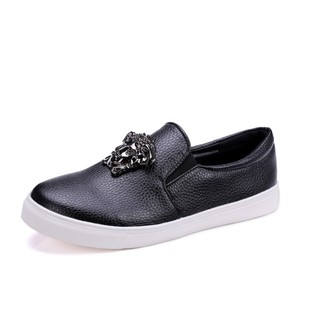 Comfortable flat shoes big yards of new fund soft bottom shoes European deep mouth stand metal lazy