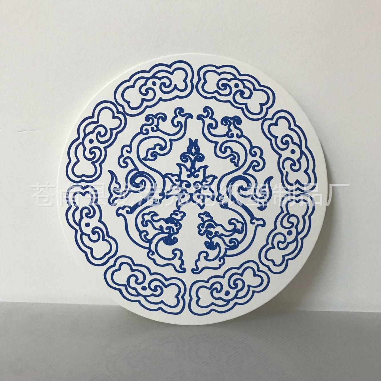 幼儿园开学教室走廊环境布置装饰品中国风青花瓷图案手工diy圆盘
