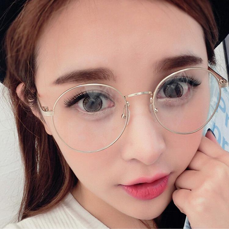 2019金属复古圆形男女款眼镜框 原宿圆形平光镜女款 框架眼镜