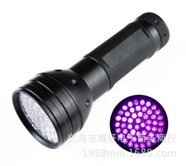 51LED紫光手电筒 UV验钞灯 UV手电筒 紫光LED手电筒 珠宝鉴定