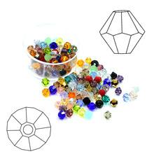 3MM4MM水晶尖珠两头尖仿奥地利水晶 diy手工串珠饰品配件厂家批发