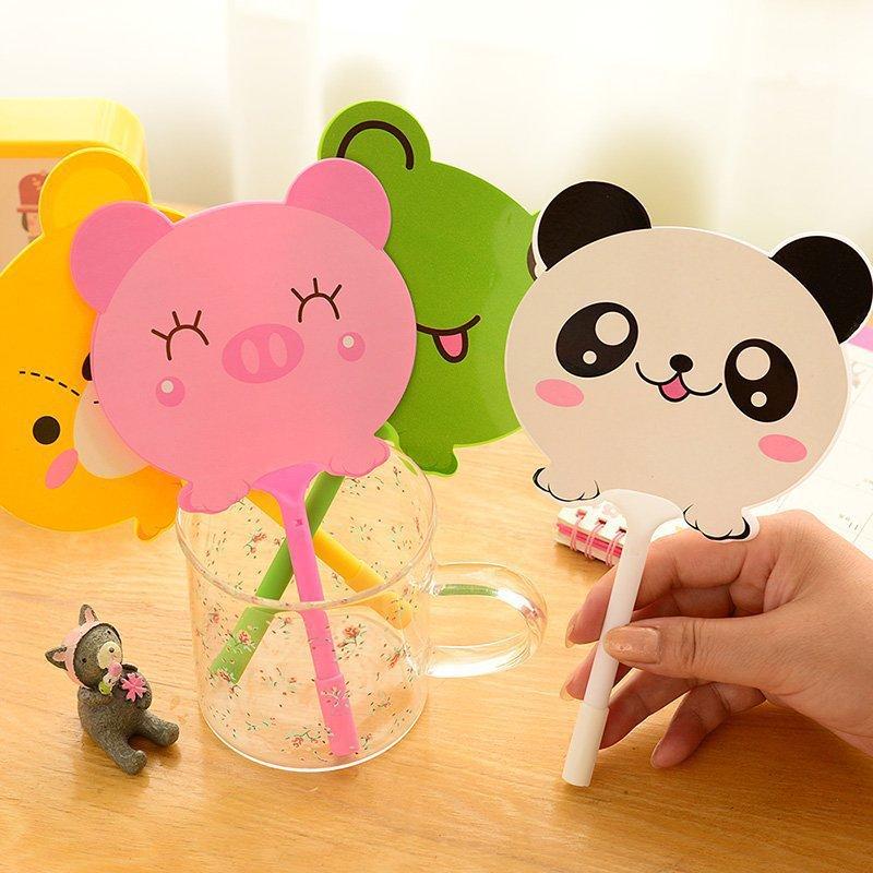 创意文具可爱棒棒糖笔扇子笔玫瑰花圆珠笔毛球笔小礼品定制logo