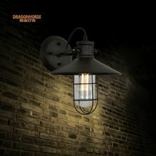 简约复古款美式乡村工业壁灯铁艺餐厅创意镜前灯吧台玄关墙壁灯