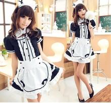 轻音女仆cosplay女佣餐厅女仆动漫演出服黑白万圣节服装一件代发