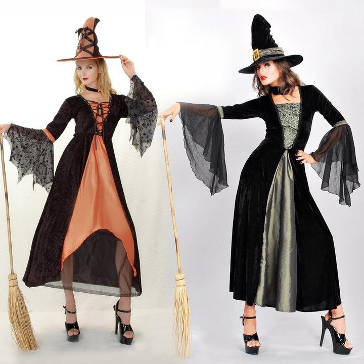 新款万圣节服装 女巫服成人角色扮演halloween巫婆cosplay演出服