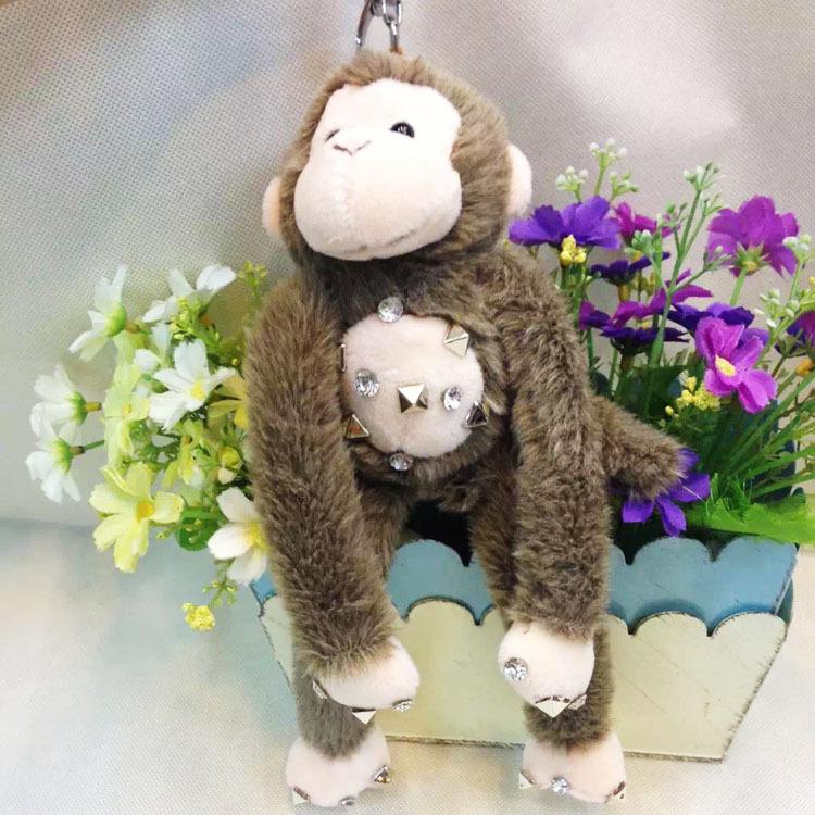 2016猴年吉祥物超萌卡通毛绒猴子公仔钥匙扣可爱娃娃