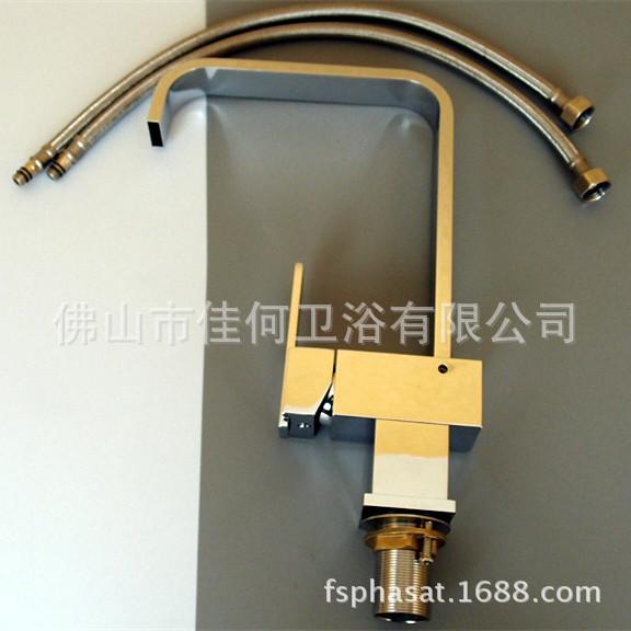 Phasat 铜制方形厨房龙头 360°旋转出水嘴 2210 七字管