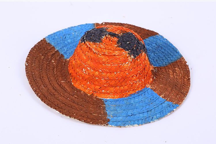 儿童diy手绘草帽 幼儿园教室创意挂饰吊饰手工装饰品大中小草帽