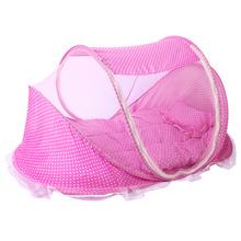 儿童宝宝折叠蚊帐带睡垫枕头蚊帐床三件套音乐0-3岁儿童蚊帐厂家