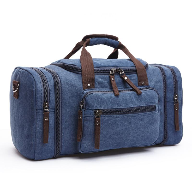 跨境新款时尚户外旅行包手提帆布斜挎背包潮流大容量休闲单肩包