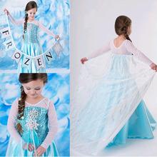 冰雪奇緣裙子外貿女大童裝爆款女童連衣裙新款童裙女童禮服童裙夏