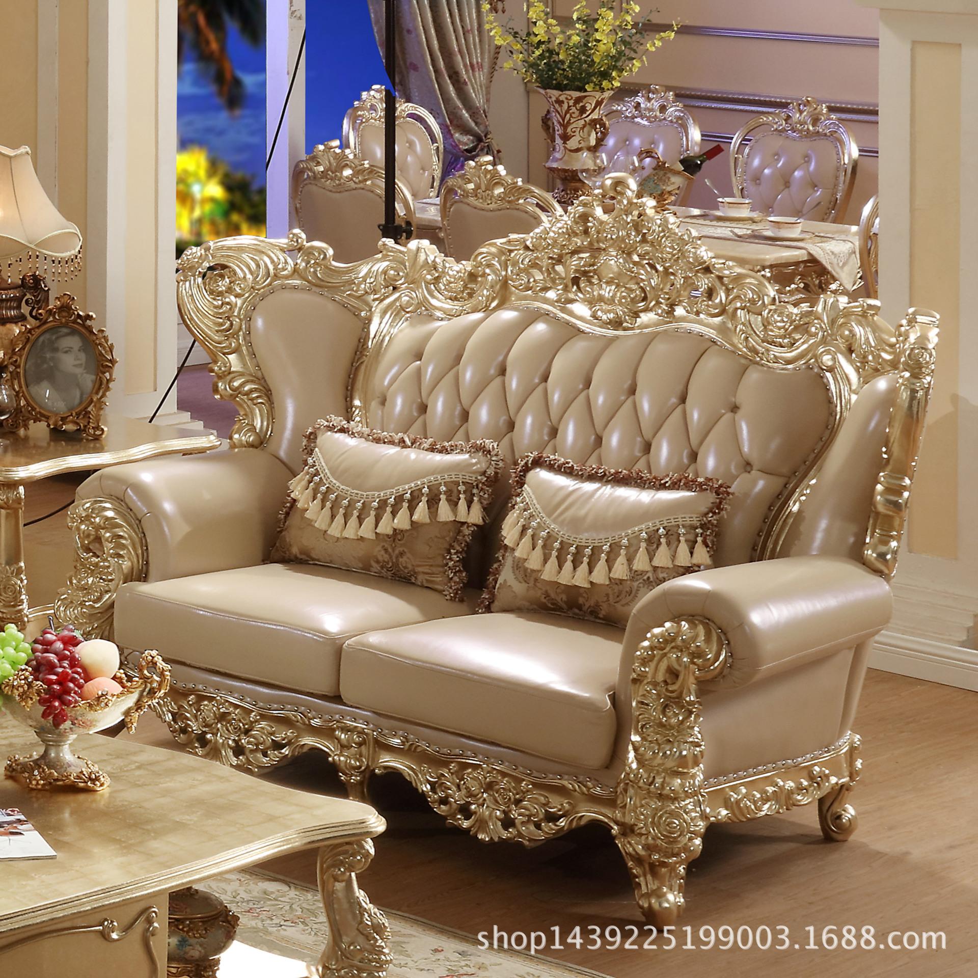 高档真皮沙发牛皮客厅组合简约现代 皮艺沙发小