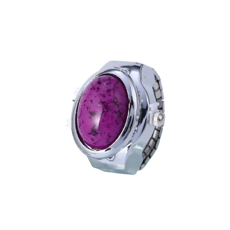 外贸热销镶钻手指表批发 女士新款迷你个性戒指表翻盖复古手表