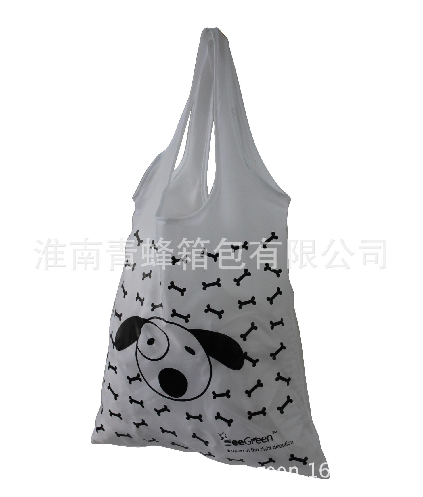 趣味折叠袋定制 礼物促销袋 小动物折叠购物袋 涤纶布袋 创意袋