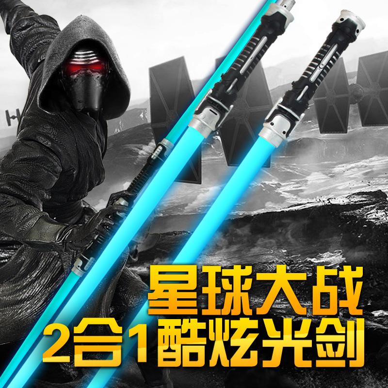 跨境专供星球大战光剑抖音同款儿童激光剑闪光棒发声发光玩具