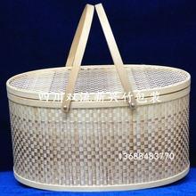 供应四川竹篮包装可装白酒 葡萄酒的礼品包装