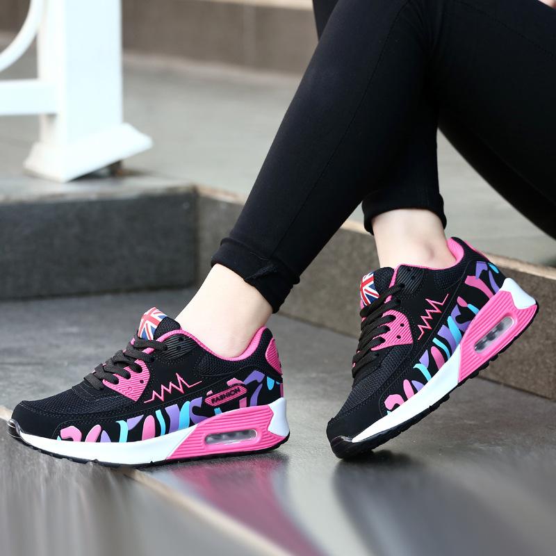 2019春季新款女鞋气垫鞋运动休闲鞋韩版学生单鞋旅游鞋平底鞋