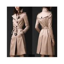 2019歐美秋季外套女長款大衣歐美時尚潮流雙排扣修身長款風衣 女