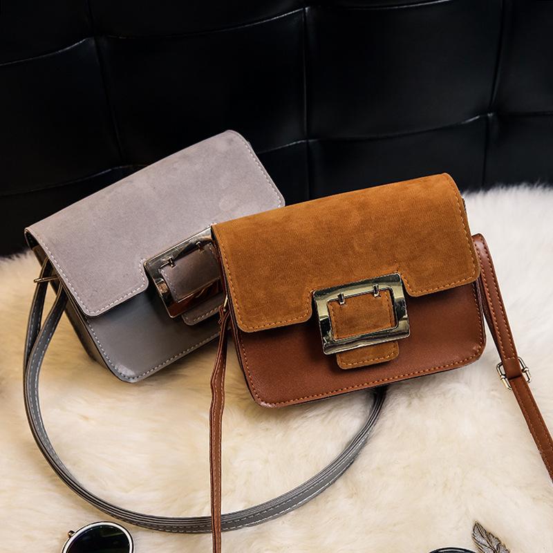 Handbags Korean version of the small square bag solid color pliers belt decorative shoulder bag factory direct wholesale