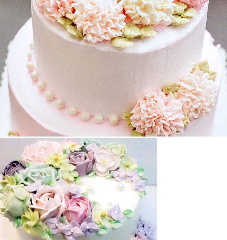 烘焙翻糖韩式玫瑰花剪蛋糕裱花剪刀奶油转移工具花托剪花夹裱花钉
