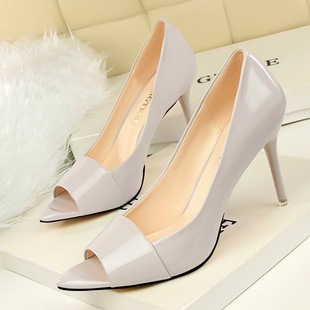 Contracted professional OL sexy women's shoes with high heels shallow pointed mouth fish