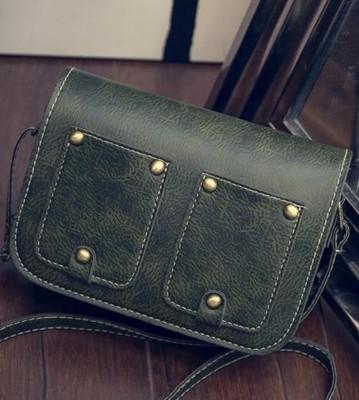 New Korean version of the pu purse retro female handbag leisure wild shoulder Messenger bag
