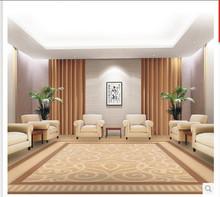 纯手工定制工程地毯宾馆接待室会客厅KTV腈纶满铺地毯可定制定做