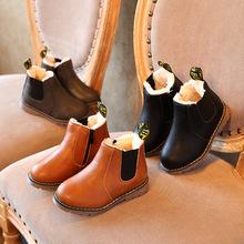 2016秋冬季新款儿童鞋男童短靴英伦皮靴女童单靴复古大童马丁靴潮