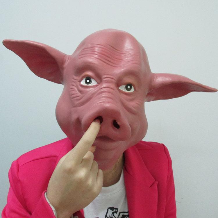 猪头面具头套包邮 化妆舞会猪八戒动物头套