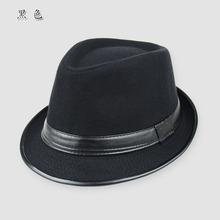 冬天帽子女韩版潮 时尚毛呢爵士帽 男士秋冬季英伦复古百搭礼帽冬