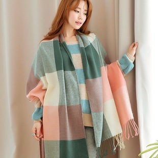 2016 autumn and winter solid color cashmere scarf Korean men, Ms. Scarf large shawl warm wholesale manufacturers