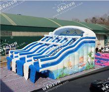 五道滑梯威顺最新水上大型充气滑梯专业生产充气水滑梯 充气水池