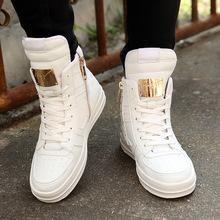 冬季外贸高帮鞋白色板鞋男韩版潮鞋街舞休闲鞋学生百搭大码男鞋45