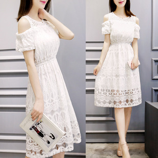 Employment agent a generation of fat 2016 Summer Korean version of the new summer dress lace strapless dress in