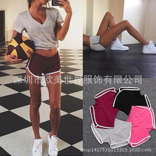 2016 hot new ebay wish explosion models in Europe and America waist casual shorts female summer