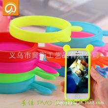 邊框式卡通硅膠手機保護套可定制手機邊框手環萬能圈圈通用保護套