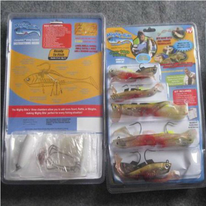 Over 100pcs mighty bite fishing lures set complete basic for Fishing lure as seen on tv