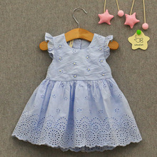 IDEA FISH童裝女童當季夏款上新韓版高檔釘珠全棉連衣裙1815