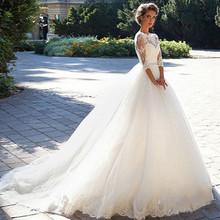 廠家批發韓版修身婚紗 2017新款婚紗新娘一字肩大碼禮服婚紗批發