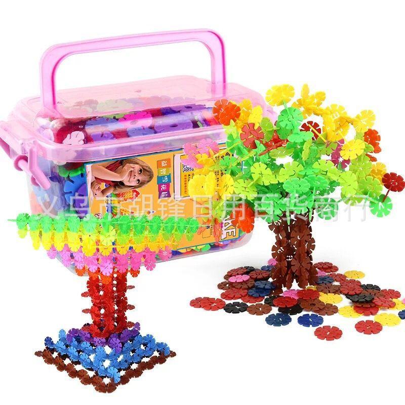 雪花片积木塑料拼插装幼儿园男女孩宝宝儿童玩具 益智玩具雪花片
