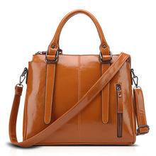 欧美斜挎包单肩机车包时尚手提包品牌新款女油蜡皮大容量女包
