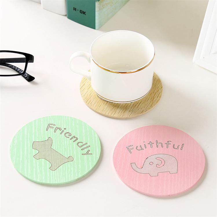 可爱卡通茶杯垫木质杯子隔热垫厨房防烫防滑碗垫杯垫餐桌垫垫子